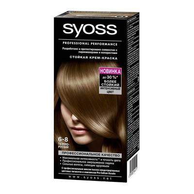 Краска для волос Syoss Color 6-8 Темно-русый