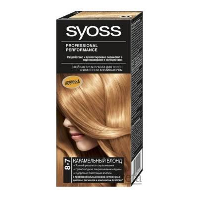 Краска для волос Syoss Color 8-7 Карамельный Блонд