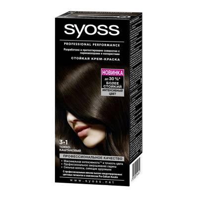 Краска для волос Syoss Color 3-1 Темно-каштановый