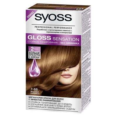 Краска для волос Syoss Gloss Sensation 7-86 Медовая карамель