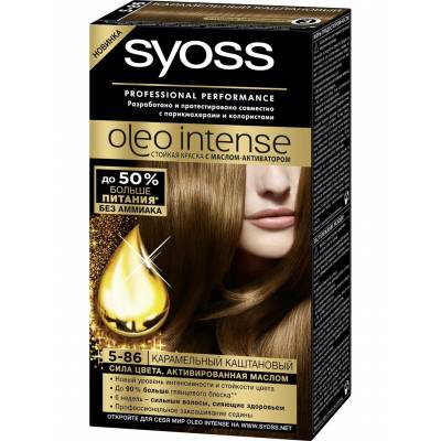Краска для волос Syoss Oleo Intense 5-86 Карамельный каштановый