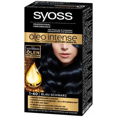 Краска для волос Syoss Oleo Intense 1-40 Иссиня-черный