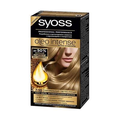 Краска для волос Syoss Oleo Intense 7-10 Натуральный светло-русый