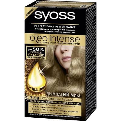 Краска для волос Syoss Oleo Intense 7-58 Холодный русый