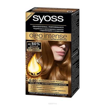 Краска для волос Syoss Oleo Intense 6-80 Золотистый русый