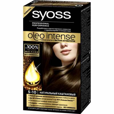 Краска для волос Syoss Oleo Intense 5-10 Натуральный Каштановый
