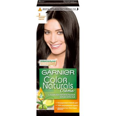 Краска для волос Color Naturals 3 Темный каштан